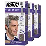 Just For Men Touch of Gray, Gray Hair Coloring Kit for...