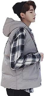 Mogogo Men's Hood Thicken Vests Warm Waistcoat Lightweight Jackets Coat