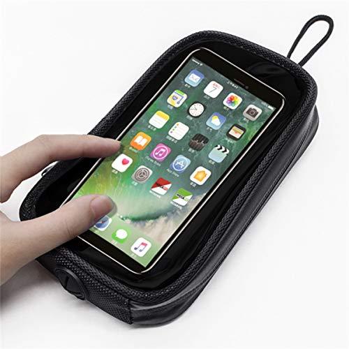 DOLA Impermeabile Porta Telefono per Moto - Borsa da Serbatoio Magnetica per Moto con 7 Potenti Magneti per La Stabilità, Adatto A Tutte Le Motociclette con Serbatoi di Metallo