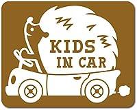 imoninn KIDS in car ステッカー 【マグネットタイプ】 No.37 ハリネズミさん (ゴールドメタリック)