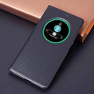حافظات فليب - حافظة هاتف جلدية بمنظر ذكي لهاتف Zenfone 3 ZE520KL ZE552KL ZE 520KL 552KL 520 552 KL ( زيفون 3 ZE552kl)