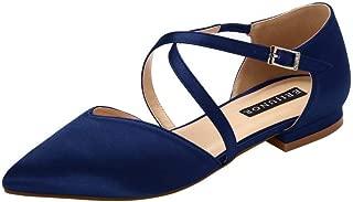 ERIJUNOR Womens E0012 Pointed Toe Wedding Flats