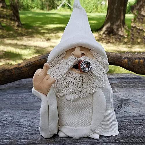 HHKX100822 Gartenfiguren & Gartenstatuen, Garden GNOME, Gartenzwerg Wetterfest Figur, Smoking Wizard Big Tongue GNOME Naughty Garden GNOME FüR Rasenschmuck Innen- Oder AußEndekorationen(NAUXIU) A