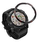 Yikamosi Acciaio Inossidabile Anello della Lunetta Compatibile con Garmin Fenix 6/6 PRO Watch, Bezel Ring Adhesive Cover Anti graffio e Protezione dalle collisioni per Garmin Watch Accessory(Red-2)
