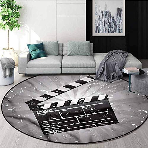 For Sale! RUGSMAT Movie Theater Anti-Skid Area Rug,Clapper Board Carpet Door Pad for Bedroom/Living ...