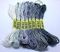 ステッチスレッドークなスタイル8ステッチ刺繍スレッドフロス縫製スケインクラフトDofferent Gradient Color guoyuxiaribeng (Color : 9)