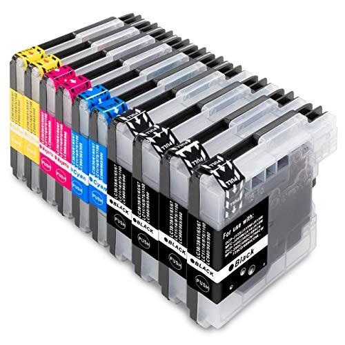 ESMOnline komp. Druckerpatronen als Ersatz zu Brother LC-980/LC-985/LC-1100 für MFC 250C 255CW 290C 295CN 490CW 5490CN 5890CN 5895CW 6490CW 6890CDW 790CW 795CW 990CW J265W J410 J415W J615W DCP 145C 165C 185C 195C 365CN 375CW 385C 395CN 585CW 6690CW J140W (10er Set)