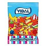 Vidal Golosinas, Dedos Surtidos, Caramelo de Goma con Un Inconfundible Sabor. Colores Atractivos, Rosa/Amarillo/Naranja/Verde, Mezcla de Frutas, 1.5 Kg