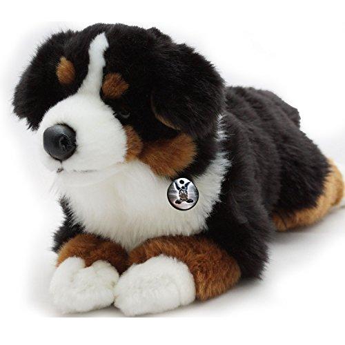 Berner Sennenhund LEXA liegend 38 cm Plüschtier von Kuscheltiere.biz