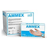 AMMEX Medical Clear Vinyl Gloves, Case of 1000, 4 mil, Size...