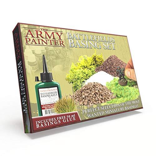 The Army Painter | Battlefields Basing Set | Material escenográfico y base de Diseño| Guía completa y Pegamento GRATIS | Wargames | Juegos de Mesa