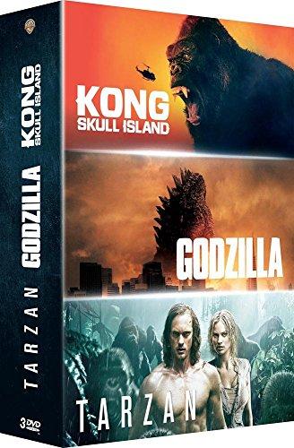 Coffret 3 films : godzilla ; kong ; tarzan [FR Import]