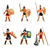 APcjerp Soldado 6 Piezas de plástico de Juguete de gladiadores Romanos Sets de Juego con Las Armas y el Escudo, Las Figuras de acción Antigua Roma Soldado, Guerrero Espartano Hslywan