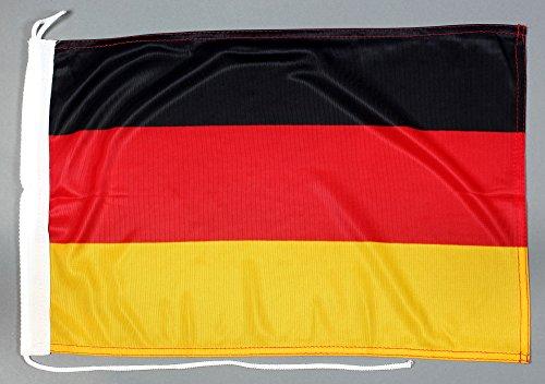 Buddel-Bini Bootsflagge Deutschland 30 x 45 cm in Profiqualität Flagge Motorradflagge