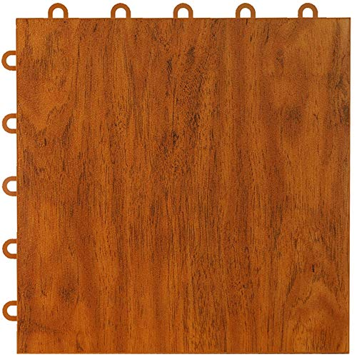 Greatmats Max Tile Laminate Wood Grain Floor Mats Interlocking Mat Tile Flooring Wood Mat Tiles for Home Office Playroom Basement Trade Shows, 26 Pack (Cherry)