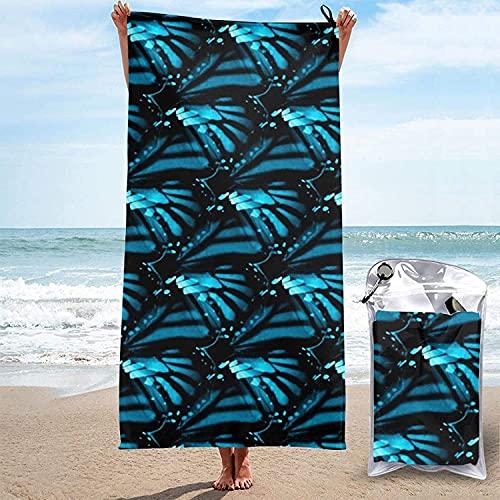 Toalla de Microfibra de Secado rápido, Mariposa Azul # 360 Toallas de baño Ultra Suaves para Acampar, Nadar, Playa, baño, 31.5 'x63