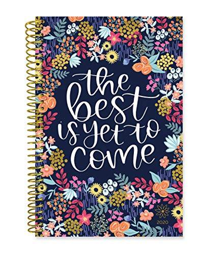 """bloom daily planners 2020 Calendar Year Day Planner (January 2020 - December 2020) - 6"""" x 8.25"""" - Weekly/Monthly Agenda Organizer Book with Tabs & Flexible Soft Cover- The Best is Yet to Come"""