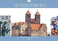 Quedlinburg - historische Stadt noerdlich vom Harz (Wandkalender 2022 DIN A4 quer): Quedlinburg - mittelalterliche Stadt (Monatskalender, 14 Seiten )