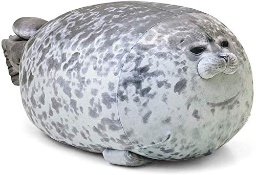 RUNYA Blob Seal Pillow Cute Chubby Seal Plush Toy Cotton Stuffed Animals