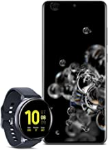 Samsung Galaxy S20 Ultra 5G Factory Unlocked New Android Cell Phone US Version 128GB of Storage, Black with Watch Active2 ...