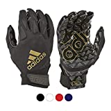 adidas Freak 4.0 Padded Receiver Football Gloves, Small, Black - Durable, Premium Football Gear and Equipment