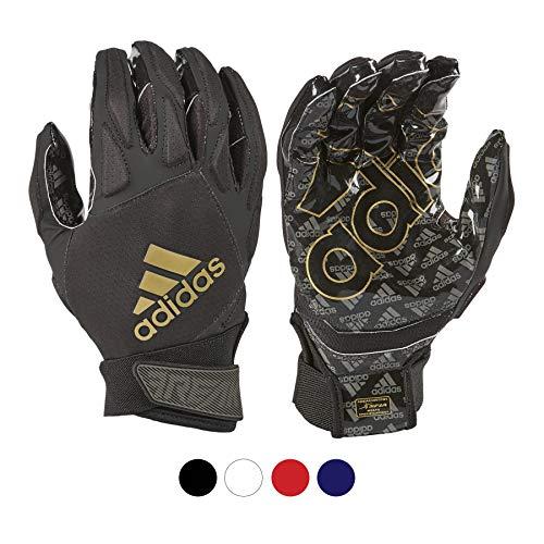 adidas Padded Receiver Football Gloves, Medium, Black - Durable, Premium Football Gear and Equipment