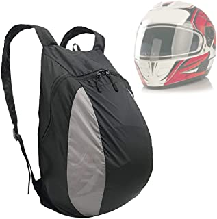 Mochila Para Bicicleta Casco Bolsa Protectora 28L Nylon Impermeable Mochila Para Deportes Al Aire Libre Hombro Cinturón, Moto Moto Hípica Casco De Esquí Sorteo Bolsa De Cuerda Material Resistente