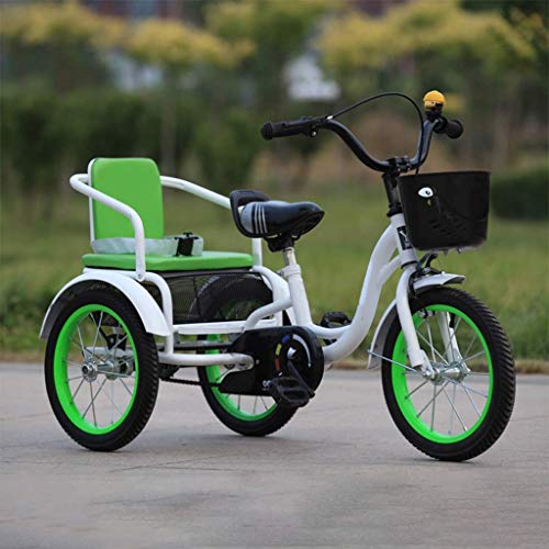 KELITINAus 14 Bicicletas de Tres Ruedas Triciclo de 16 Pulgadas para Niños de 2 a 8 Años, Niñas, Niñas, Niños, Bicicletas, Bicicletas, Bicicletas de Crucero, Truco de Altura Ajustable, M de Acero de