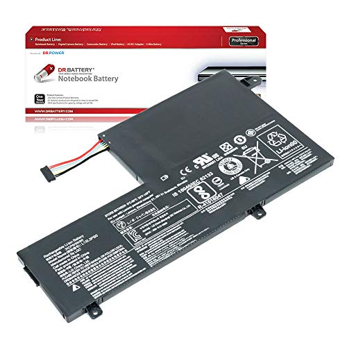 DR. BATTERY Laptop Battery for Lenovo L15L3PB0 L15L3PBO L15M3PB0 Yoga 510-14AST [11.4V/4610mAh/52.5Wh]