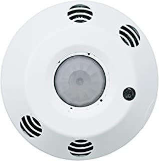 Leviton ODC10-MDW ODC Series 1000 Sq. Ft. Multi-Technology Ceiling-Mount Occupancy Sensor, 120-277 Volt, White