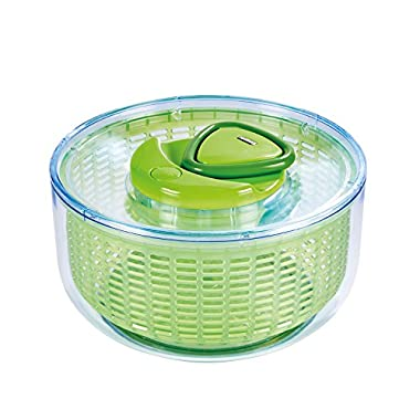 ZYLISS Easy Spin Salad Spinner, Large, Green, BPA Free