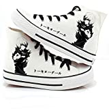 MAZF Tokyo Ghoul High Gang Zapatos de Lona Unisex Cosplay Zapatos Casuales De Zapatillas con Cordones-38
