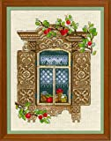 Riolis 1732 - Juego de punto de cruz (algodón, 3040 cm), diseño de manzanas