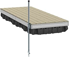 PlayStar Aluminum Floating Dock Kit W/Resin Top - 4'X10' Strong, Lightweight Aluminum Floating Dock 4'X10' with Resin Top