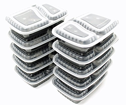 Find Cheap 10 Pack Compartment Lunch Box Bento Boxes with Lids - Multi Purpose Storage Containers fo...