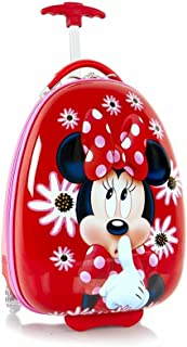 Disney Minnie Mouse Luggage for Kids 18 Inches Hard Sided Egg Shaped Kids Suitcase