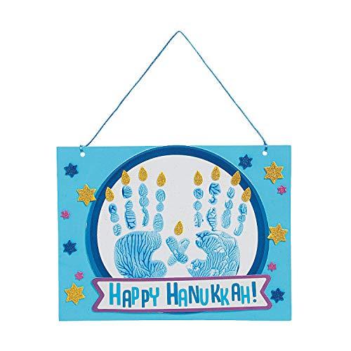 Fun Express Hanukkah Handprint Sign Craft Kit - Craft Kits - 12 Pieces