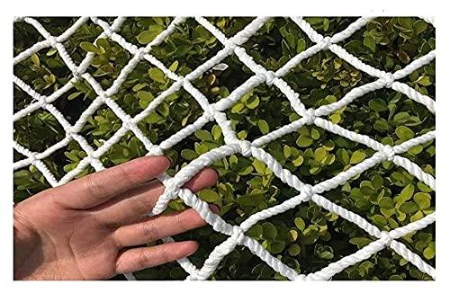 Lanrui Netificación de Seguridad Blanca, Nylon Carga Rope Nets, Balcony Net para niños, Puertas de escaleras para bebé para Interiores, al Aire Libre, Color: 8 cm, Tamaño: 1x5m Red Gatos