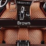 SUNQQJ Las Alfombrillas de Coche Son adecuadas para Accesorios de la Serie BMW e36 e39 e46 e60 e90 f10 F15 F16 f30 x1 x3 x4 x5 x6 1/2/3/4/5/6/7 Accesorios Coche, marrón
