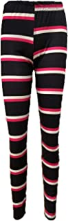 21FASHION. Ladies Stripe Printed Full Length Leggings Womens Casual Wear Stretchy Trousers