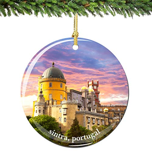 City-Souvenirs Sintra Portugal Christmas Ornament Porcelain Double Sided