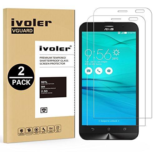 iVoler [2 Pack] Pellicola Vetro Temperato per ASUS ZenFone Go ZB551KL 5.5', Pellicola Protettiva Protezione per Schermo per ASUS ZenFone Go ZB551KL 5.5'