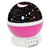 [ZHOPPY]ZHOPPY Night Lights for Kids, Star and Moon Starlight Projector Bedside Lamp for Baby Room Kids Bedroom Star [並行輸入品]