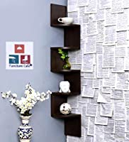Furniture Cafe Premium Quality -100% Guaranteed / Made in India Product / Factory Price - Own Manufacturer Material: Laminated MDF, ENGINEERED WOOD, Color: Brown. Size: 20 cm x 20 cm x 125 cm, / Individual Shelf Dimensions are: 20 x 20 cm. Package Co...