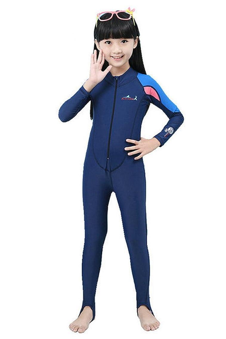 Long Sleeve One Piece Swimsuit UPF 50+ Rashguard Pink for Kids