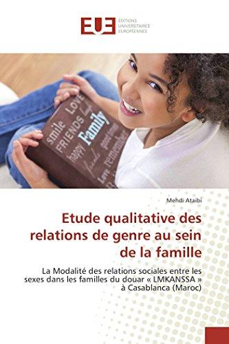 Etude qualitative des relations de genre au sein de la famille: La Modalité des relations sociales entre les sexes dans les familles du douar « LMKANSSA » à Casablanca (Maroc) (OMN.UNIV.EUROP.)