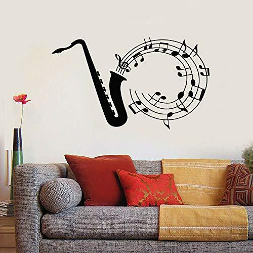 Tianpengyuanshuai wandsticker muziek jazz blauw melodieën wandsticker van vinyl venster glas wandsticker slaapkamer studio muziek