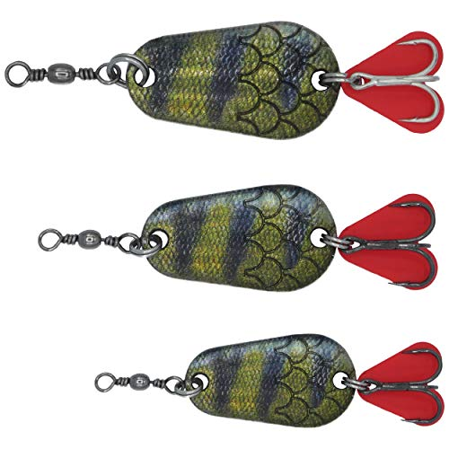 Paradox Fishing Blinker Set (3 Stück) 6g / 10g / 16g Hechtköder Barsch Köder Zander Köder Hecht Köder Barschköder Spinner Angelköder Jigspinner Raubfisch Köder Set - Blinker Angeln (Barsch 2)