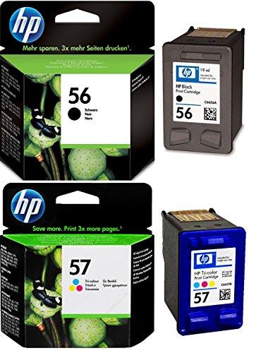 HP Lot de cartouches d'encre d'origine 56/57 noir et couleur dans un emballage en aluminium