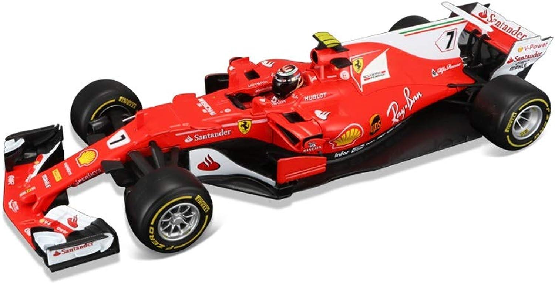 SHLIN-Auto Model Legierung Rennen Modell Jubilum Formel Serie Adlut Kids Collection Geschenk Dekoration Ferrari SF-7 F1 1 18 (Farbe   7  Kimi Raikkonen (2018))